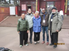 Qigong friends on Mt. E'mei