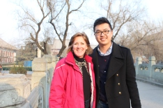 With friend Lin at Peking University